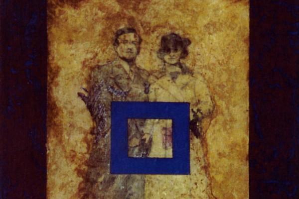 Couple au carré bleu