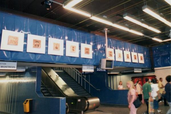 Installation à la station de métro Miromesnil – Paris – 8ème arrondissement